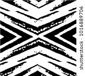 grunge halftone black and white ... | Shutterstock . vector #1016889706