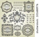 vector set  calligraphic design ... | Shutterstock .eps vector #101688976