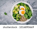 healthy green vegetarian buddha ... | Shutterstock . vector #1016890669