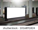 blank advertising billboard at... | Shutterstock . vector #1016891824