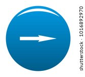 arrow icon vector blue circle...