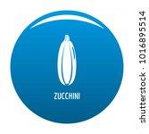 zucchini icon vector blue...   Shutterstock .eps vector #1016895514