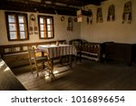 traditional old romanian room | Shutterstock . vector #1016896654