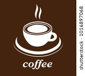 cup of coffee vector icon  logo ... | Shutterstock .eps vector #1016897068