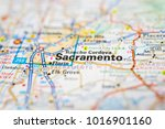 sacramento on usa map | Shutterstock . vector #1016901160