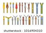 zipper puller lock icons set.... | Shutterstock .eps vector #1016904310