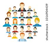 members icon set isolated. flat ... | Shutterstock .eps vector #1016904439
