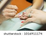 manicure artificial nails | Shutterstock . vector #1016911174