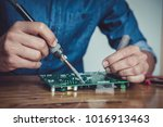 close up of the hand men hold... | Shutterstock . vector #1016913463