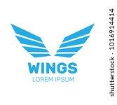 eagle wings . wings angel... | Shutterstock . vector #1016914414