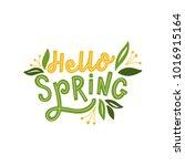 hand drawn lettering hello... | Shutterstock .eps vector #1016915164