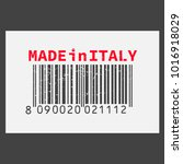 vector realistic barcode  made... | Shutterstock .eps vector #1016918029