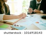 consult of business people... | Shutterstock . vector #1016918143