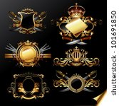 set of ornamental golden labels | Shutterstock .eps vector #101691850