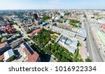 aerial city view with... | Shutterstock . vector #1016922334