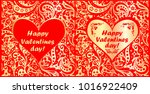 red and gold greeting cards for ... | Shutterstock .eps vector #1016922409