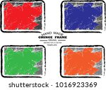 grunge frame set vector template | Shutterstock .eps vector #1016923369