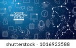 voice recognition assistance...   Shutterstock .eps vector #1016923588