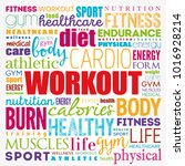workout word cloud collage ... | Shutterstock .eps vector #1016928214