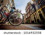 street of amsterdam  old street ... | Shutterstock . vector #1016932558