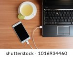 plug in usb cord charger of the ... | Shutterstock . vector #1016934460