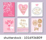 happy  valentine's day. set of... | Shutterstock .eps vector #1016936809