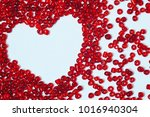 heart of red valentine's red... | Shutterstock . vector #1016940304