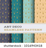 art deco seamless pattern with...   Shutterstock .eps vector #1016943418
