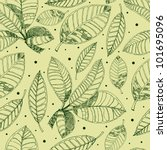 vector seamless floral pattern... | Shutterstock .eps vector #101695096