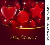 christmas glass decor on... | Shutterstock .eps vector #101695354