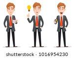business man with blond hair ... | Shutterstock .eps vector #1016954230