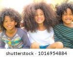 group of happy children or kids ... | Shutterstock . vector #1016954884