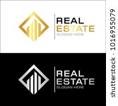 modern real estate logo template | Shutterstock .eps vector #1016955079