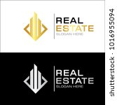 modern real estate logo template | Shutterstock .eps vector #1016955094