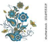 paisley pattern. ornate... | Shutterstock .eps vector #1016955319