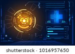 abstract technology ui... | Shutterstock .eps vector #1016957650