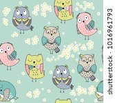 vector seamless pattern with...   Shutterstock .eps vector #1016961793