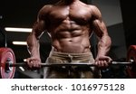 sexy strong bodybuilder... | Shutterstock . vector #1016975128