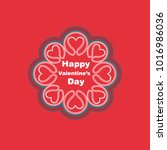 happy valentine's day greeting...   Shutterstock .eps vector #1016986036