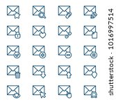 set of mail icons. vector... | Shutterstock .eps vector #1016997514