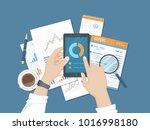 statistics  analytics  report... | Shutterstock .eps vector #1016998180