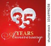 35 years anniversary firework... | Shutterstock .eps vector #1016998258