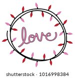 happy valentines day lights | Shutterstock . vector #1016998384