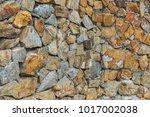 beautiful artistic stone wall.   Shutterstock . vector #1017002038