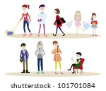group of people | Shutterstock .eps vector #101701084