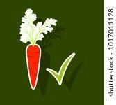 carrot sticker icon. carrot... | Shutterstock .eps vector #1017011128