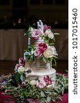 wedding cake at reception | Shutterstock . vector #1017015460