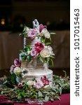 wedding cake at reception | Shutterstock . vector #1017015463