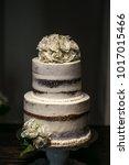 wedding cake at reception | Shutterstock . vector #1017015466