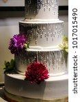 wedding cake at reception | Shutterstock . vector #1017015490